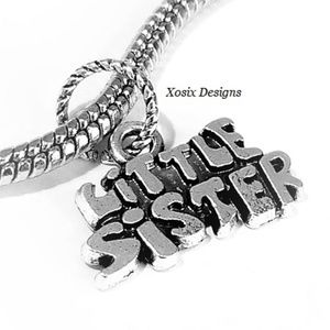 European Little Sister Charm Bead Pendant